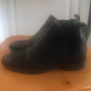 Women's black topshop booties size 8 (uk 38)